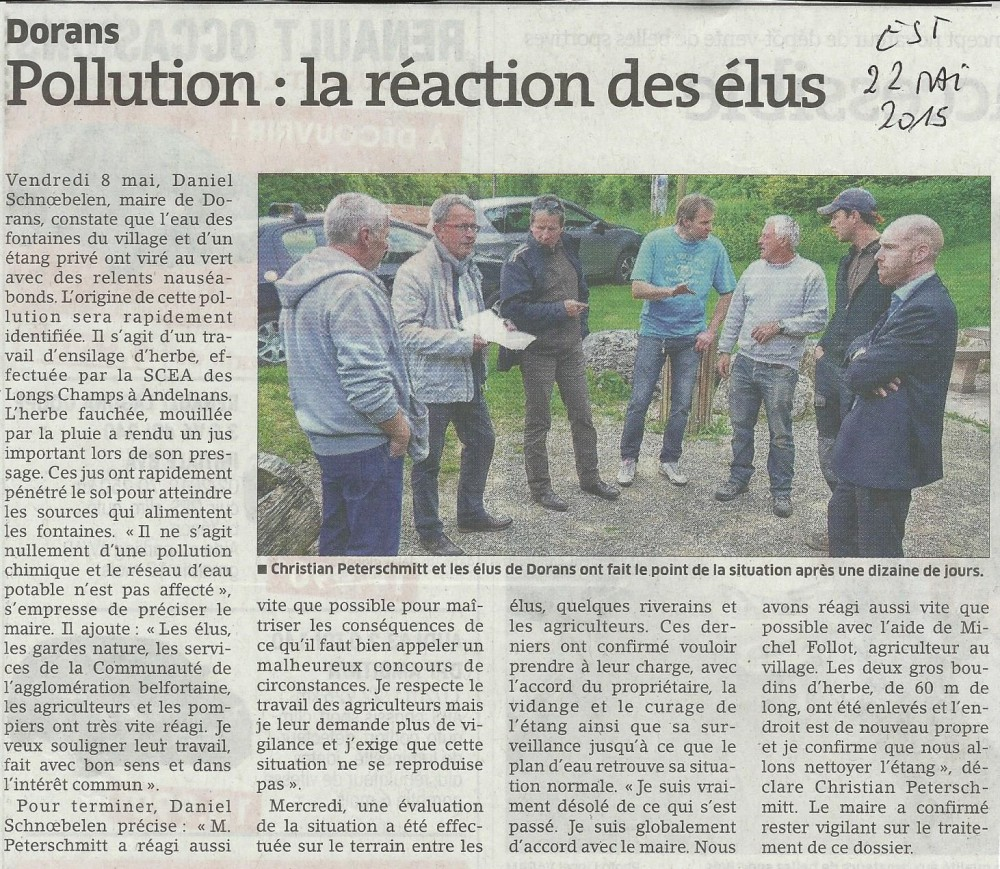 Pollution la réaction des élus